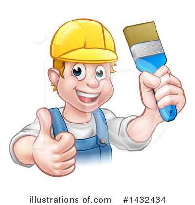 Painter Clipart #1432434 by AtStockIllustration