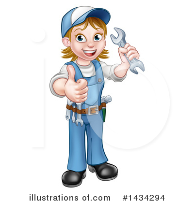 Royalty-Free (RF) Worker Clipart Illustration by AtStockIllustration - Stock Sample #1434294