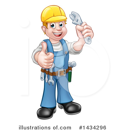 Plumber Clipart #1434296 by AtStockIllustration
