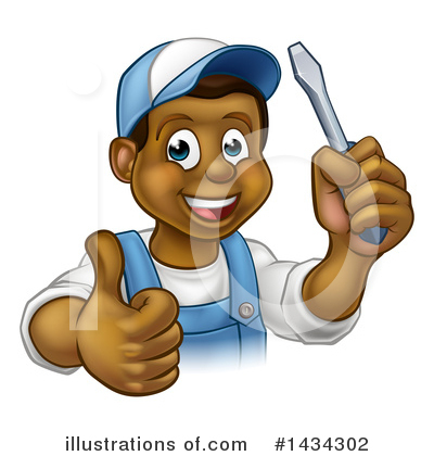 Electrician Clipart #1434302 by AtStockIllustration