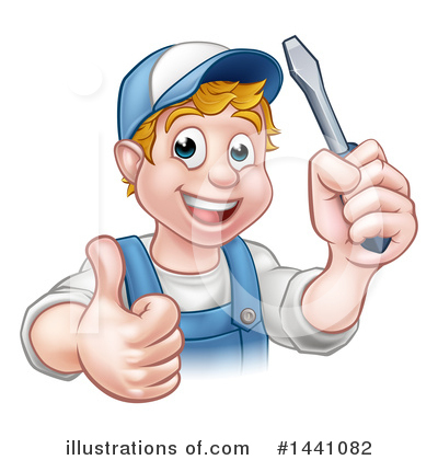 Electrician Clipart #1441082 by AtStockIllustration