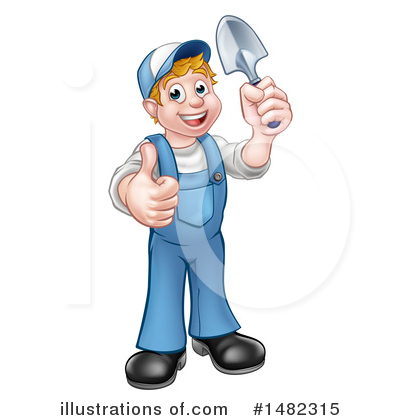 Royalty-Free (RF) Worker Clipart Illustration by AtStockIllustration - Stock Sample #1482315