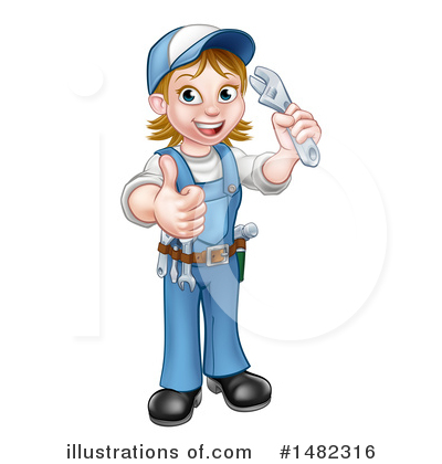 Plumber Clipart #1482316 by AtStockIllustration