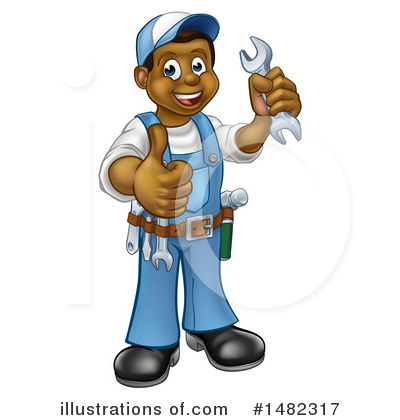 Worker Clipart #1482317 by AtStockIllustration