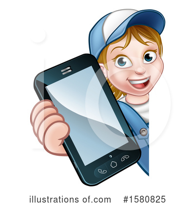 Royalty-Free (RF) Worker Clipart Illustration by AtStockIllustration - Stock Sample #1580825