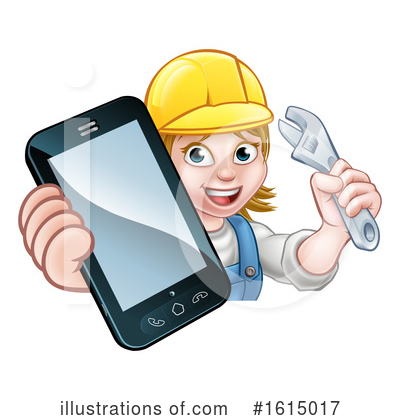 Royalty-Free (RF) Worker Clipart Illustration by AtStockIllustration - Stock Sample #1615017