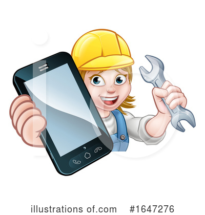 Royalty-Free (RF) Worker Clipart Illustration by AtStockIllustration - Stock Sample #1647276