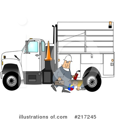 Royalty-Free (RF) Worker Clipart Illustration by djart - Stock Sample #217245