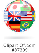 Royalty-Free (RF) World Globe Clipart Illustration #87309