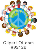 Royalty-Free (RF) World Peace Clipart Illustration #92122