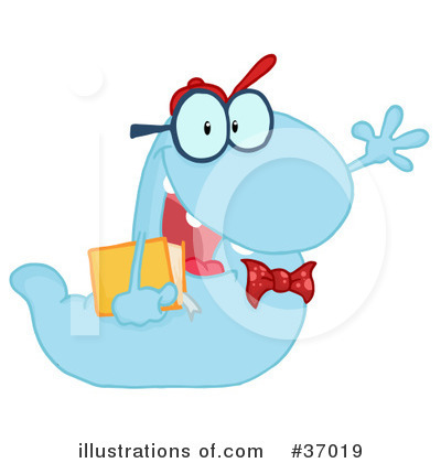 Book Worm Clipart #37019 by Hit Toon