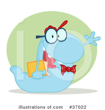 Book Worm Clipart #37022 by Hit Toon