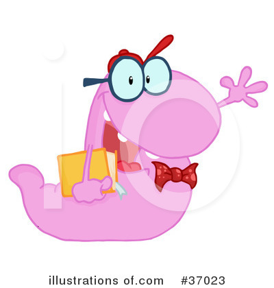 Book Worm Clipart #37023 by Hit Toon