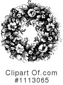 Wreath Clipart #1113065 by Prawny Vintage