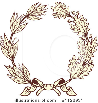 Laurel Wreath Clipart #1122931 by Vector Tradition SM