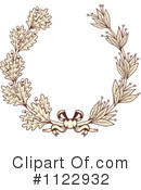 Wreath Clipart #1122932 by Vector Tradition SM