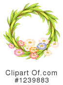 Royalty-Free (RF) Wreath Clipart Illustration #1239883
