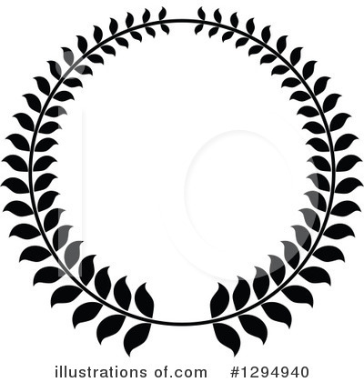 Laurel Wreath Clipart #1294940 by Vector Tradition SM