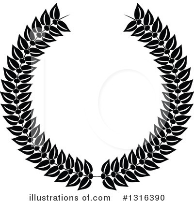 Laurel Wreath Clipart #1316390 by KJ Pargeter