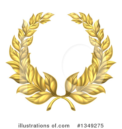 Laurel Wreath Clipart #1349275 by AtStockIllustration