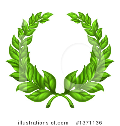 Laurel Wreath Clipart #1371136 by AtStockIllustration