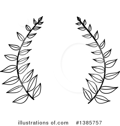 Laurel Wreath Clipart #1385757 by ColorMagic