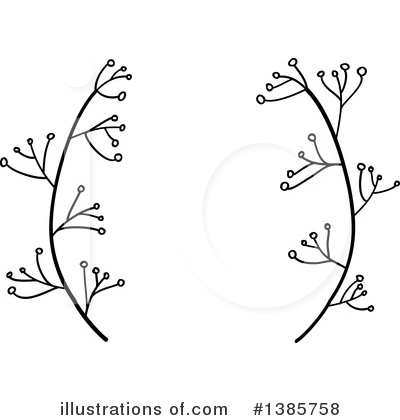 Laurel Wreath Clipart #1385758 by ColorMagic