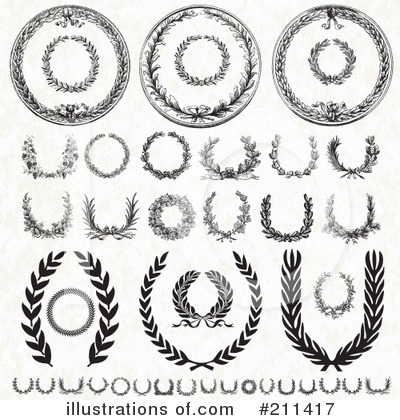 Laurel Wreath Clipart #211417 by BestVector