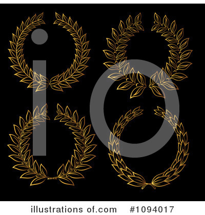 Gold Design Elements Clipart #1094017 by Vector Tradition SM
