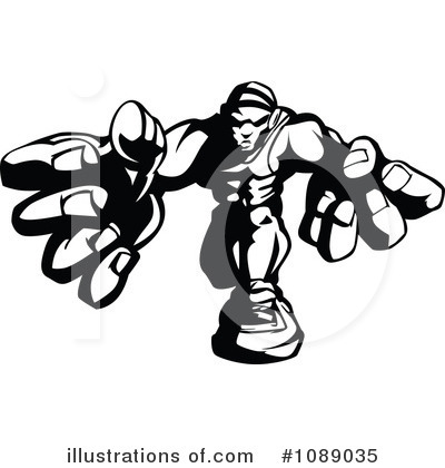 Wrestling Clipart #1089035 by Chromaco