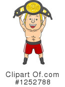 Wrestler Clipart #1252788 by BNP Design Studio
