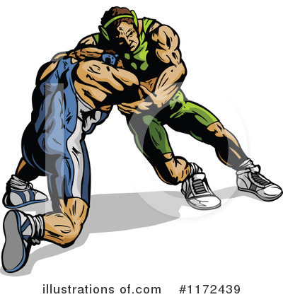Wrestling Clipart #1172439 by Chromaco