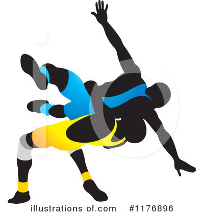 Wrestling Clipart #1176896 by Lal Perera