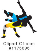 Royalty-Free (RF) Wrestling Clipart Illustration #1176896