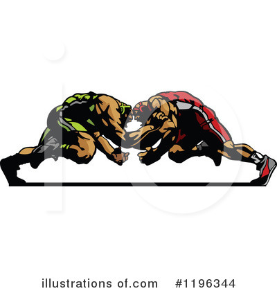 Royalty-Free (RF) Wrestling Clipart Illustration by Chromaco - Stock Sample #1196344