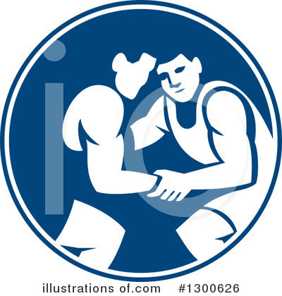 Royalty-Free (RF) Wrestling Clipart Illustration by patrimonio - Stock Sample #1300626