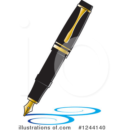 Writing Clipart #1244140 by Lal Perera