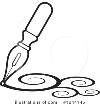Royalty-Free (RF) Writing Clipart Illustration by Lal Perera - Stock Sample #1244145