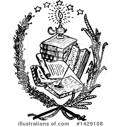 Reading Clipart #1429108 by Prawny Vintage