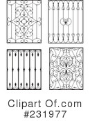 Royalty-Free (RF) Wrought Iron Clipart Illustration #231977