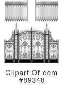 Royalty-Free (RF) Wrought Iron Clipart Illustration #89348