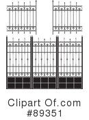 Royalty-Free (RF) Wrought Iron Clipart Illustration #89351