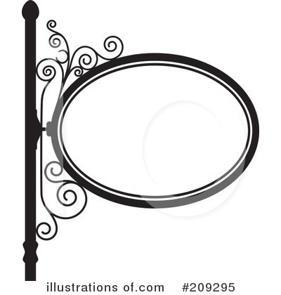 Wrought Iron Sign Clipart #209295 by Frisko