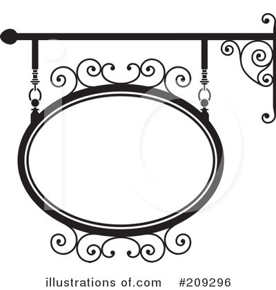 Royalty-Free (RF) Wrought Iron Sign Clipart Illustration by Frisko - Stock Sample #209296