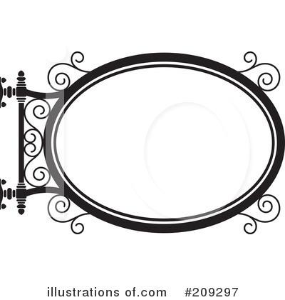 Wrought Iron Sign Clipart #209297 by Frisko