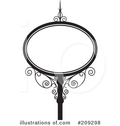 Wrought Iron Sign Clipart #209298 by Frisko