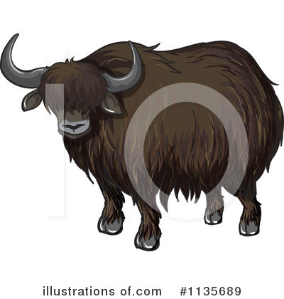 Yak Clipart #1135689 - Illustration by Graphics RF