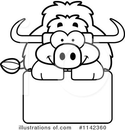 Yak Clipart #1142360 - Illustration by Cory Thoman