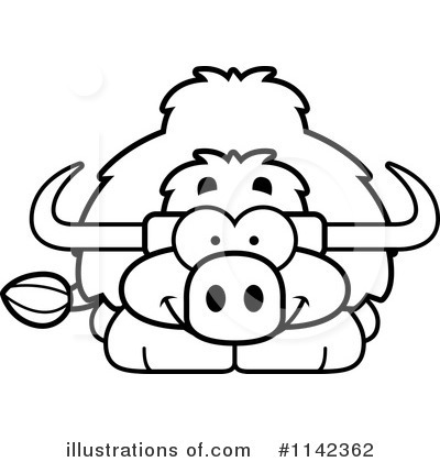 Yak Clipart #1098218 - Illustration by Cory Thoman