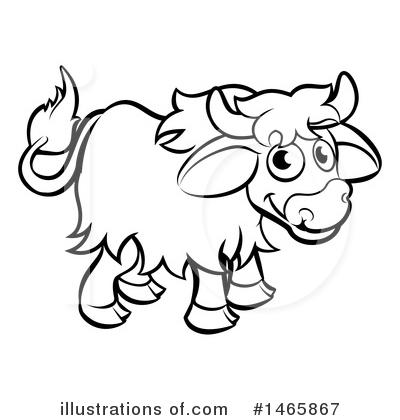Yak Clipart #1198998 - Illustration by AtStockIllustration